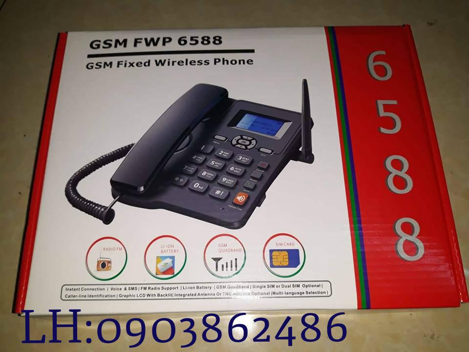 ĐIỆN THOẠI BÀN  CỐ ĐỊNH HOMEPHONE FWP-6588 2 SIM