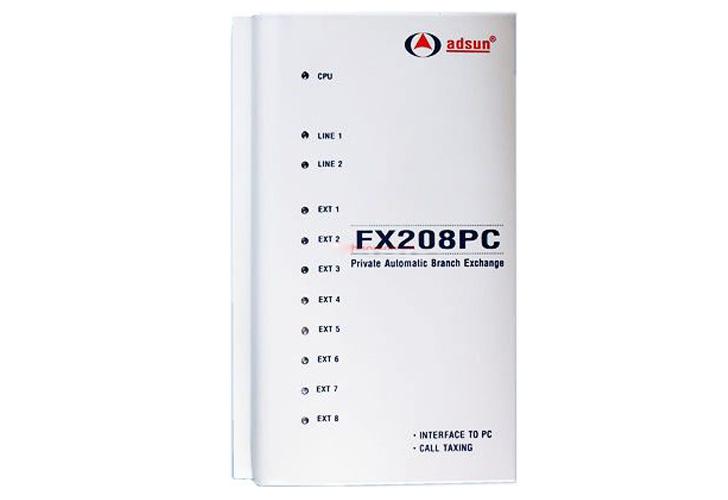 Tổng đài điện thoại Adsun FX208PC 8 máy nhánh